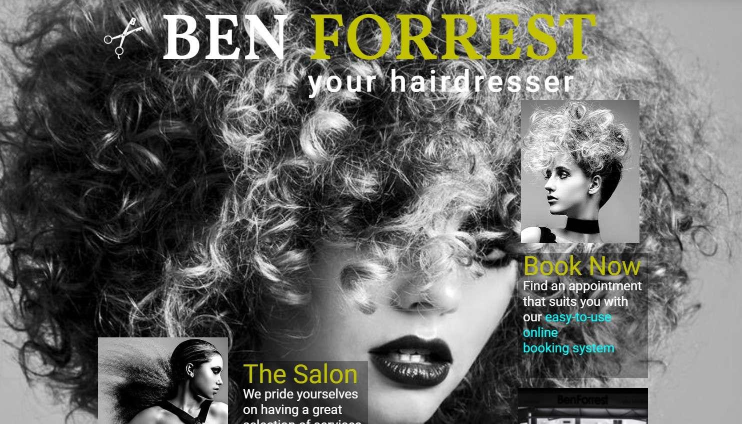 Ben Forrest Salons Website By T900 Website Design in Surrey
