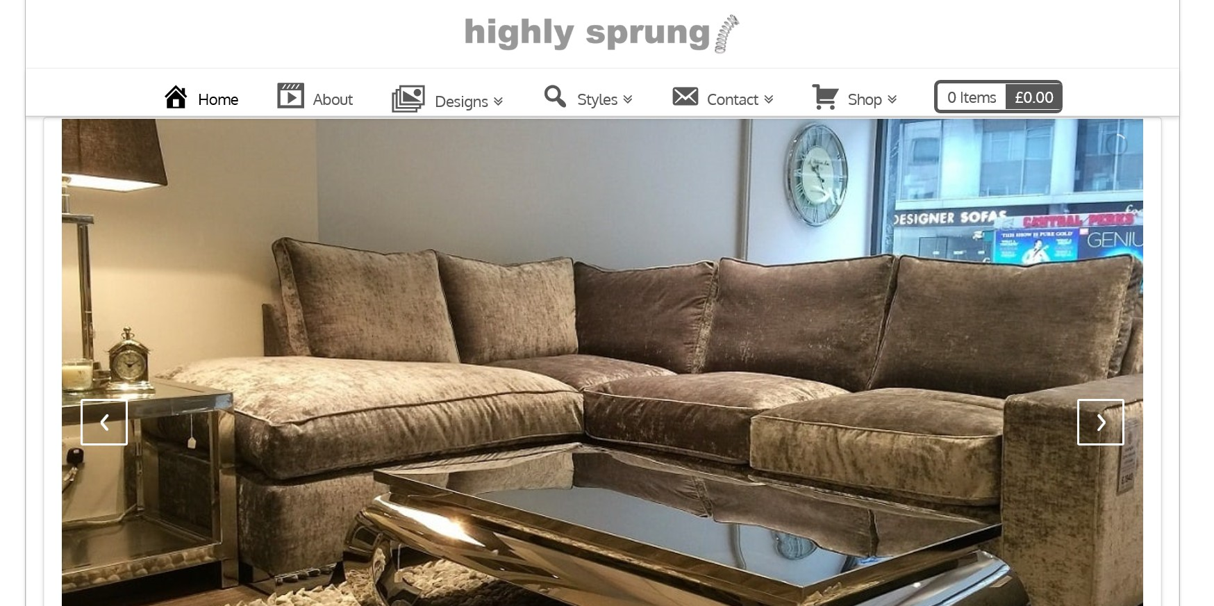 Highly Sprung Sofas Website By T900 Website Design in Surrey