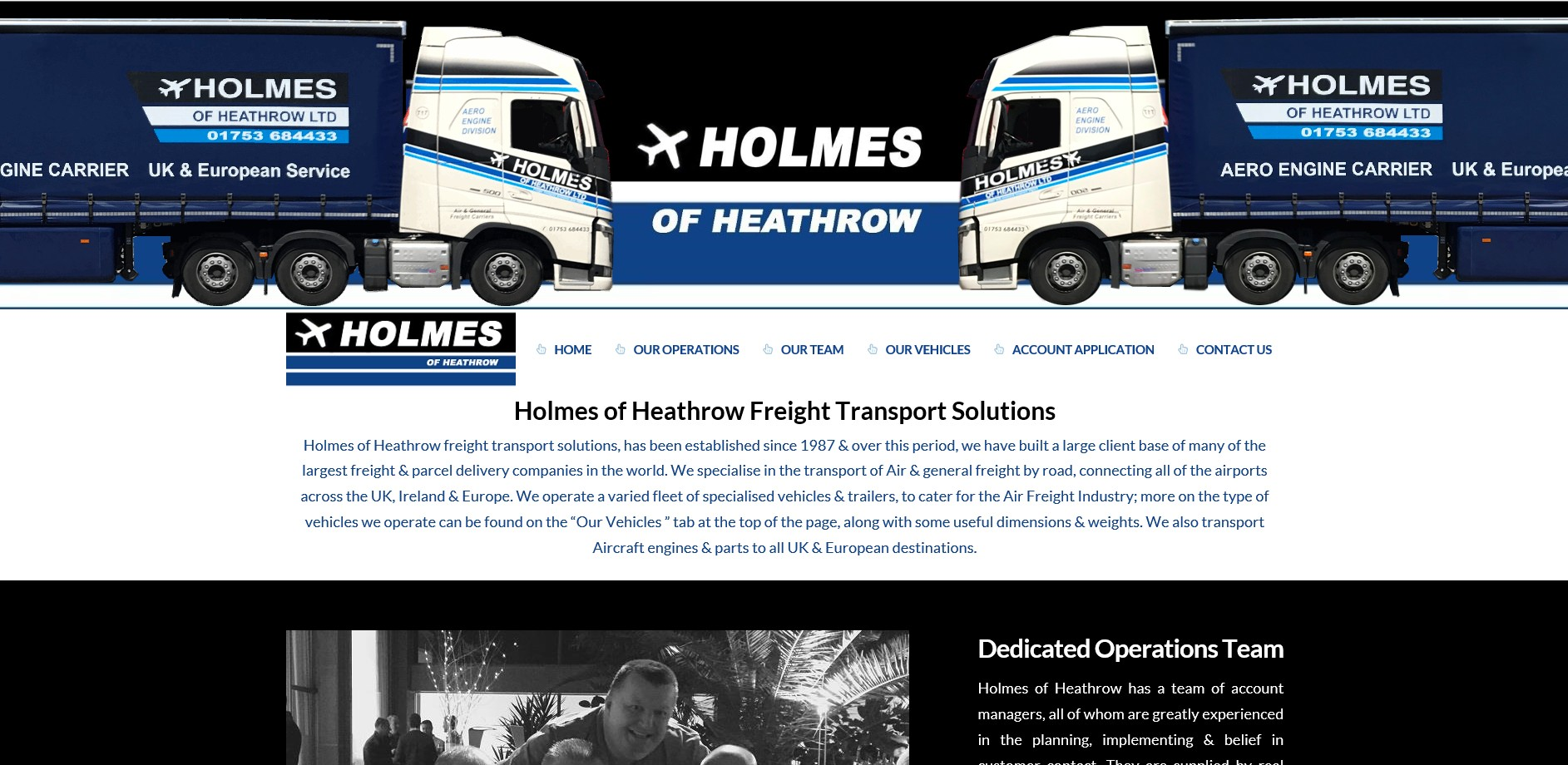 Holmes of Heathrow Website By T900 Website Design in Surrey