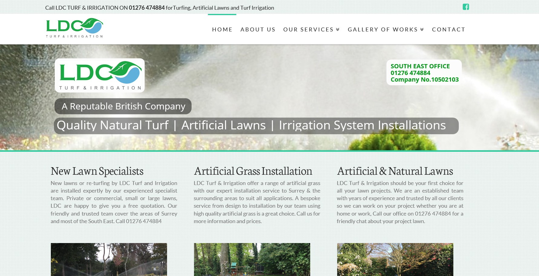LDC Turf and Irrigation Website By T900 Website Design in Surrey