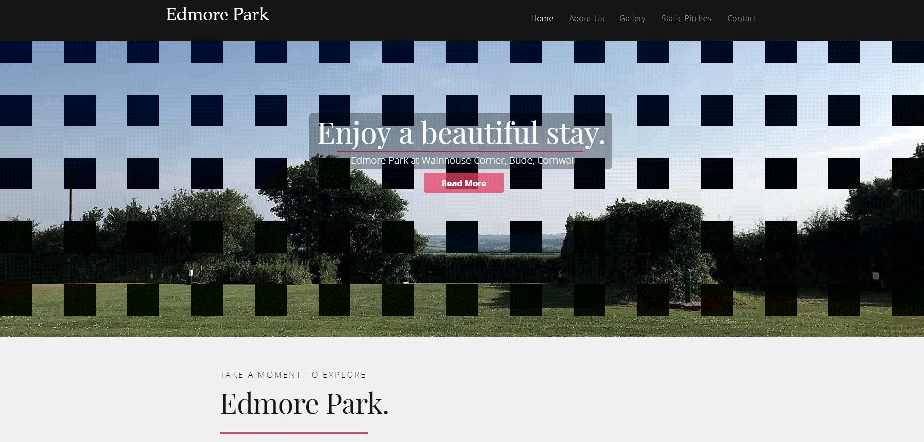 Edmore Park Campsite Website By T900 Website Design in Surrey