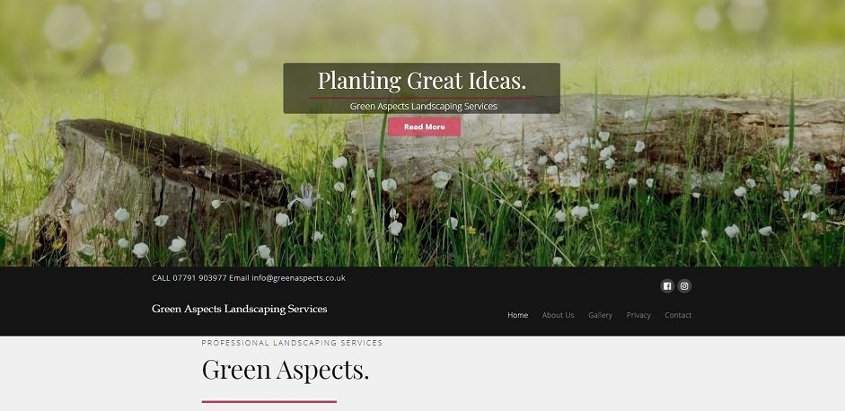 Green Aspects Landscaping Website By T900 Website Design in Surrey