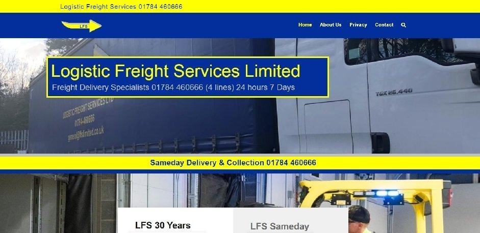 Logistic Freight Services Website By T900 Website Design in Surrey