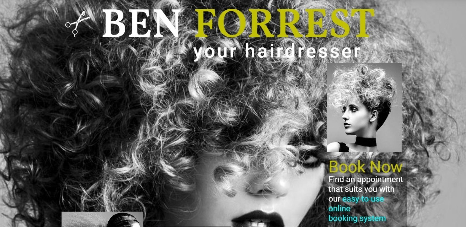 Ben Forrest Salons Website By T900 Website Design in Surrey