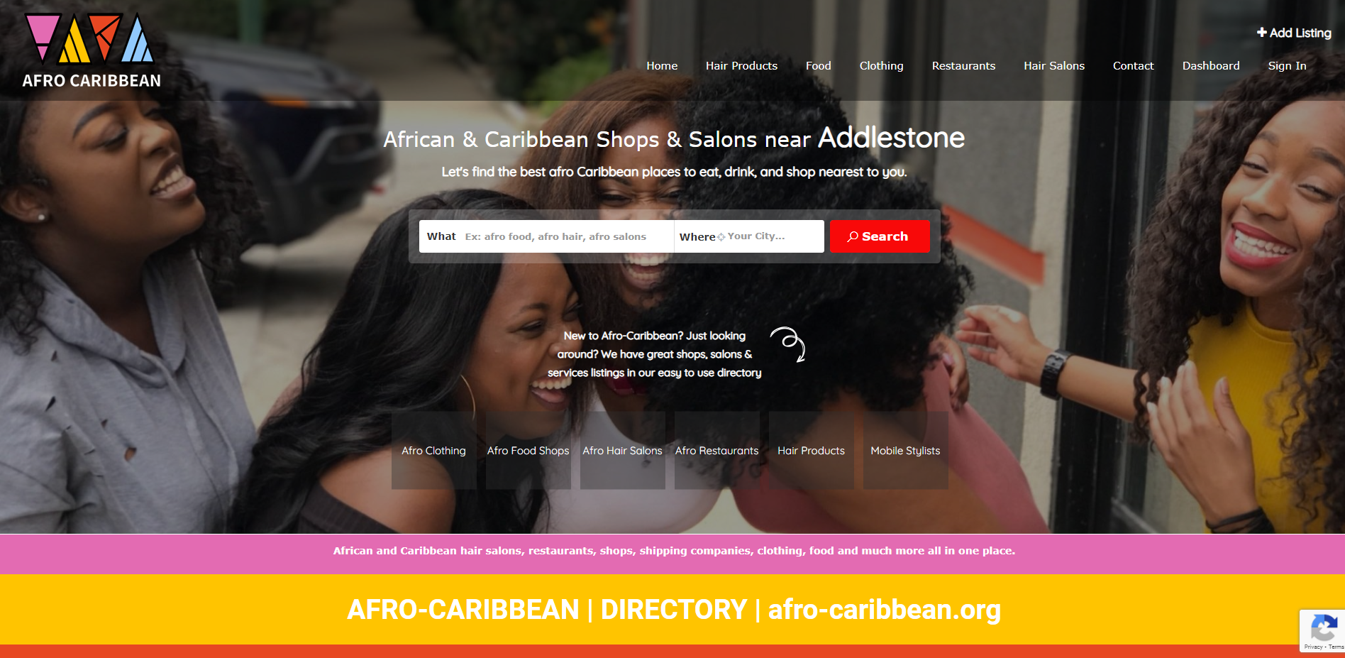Afro Caribbean Business Directory By T900 Website Design in Surrey