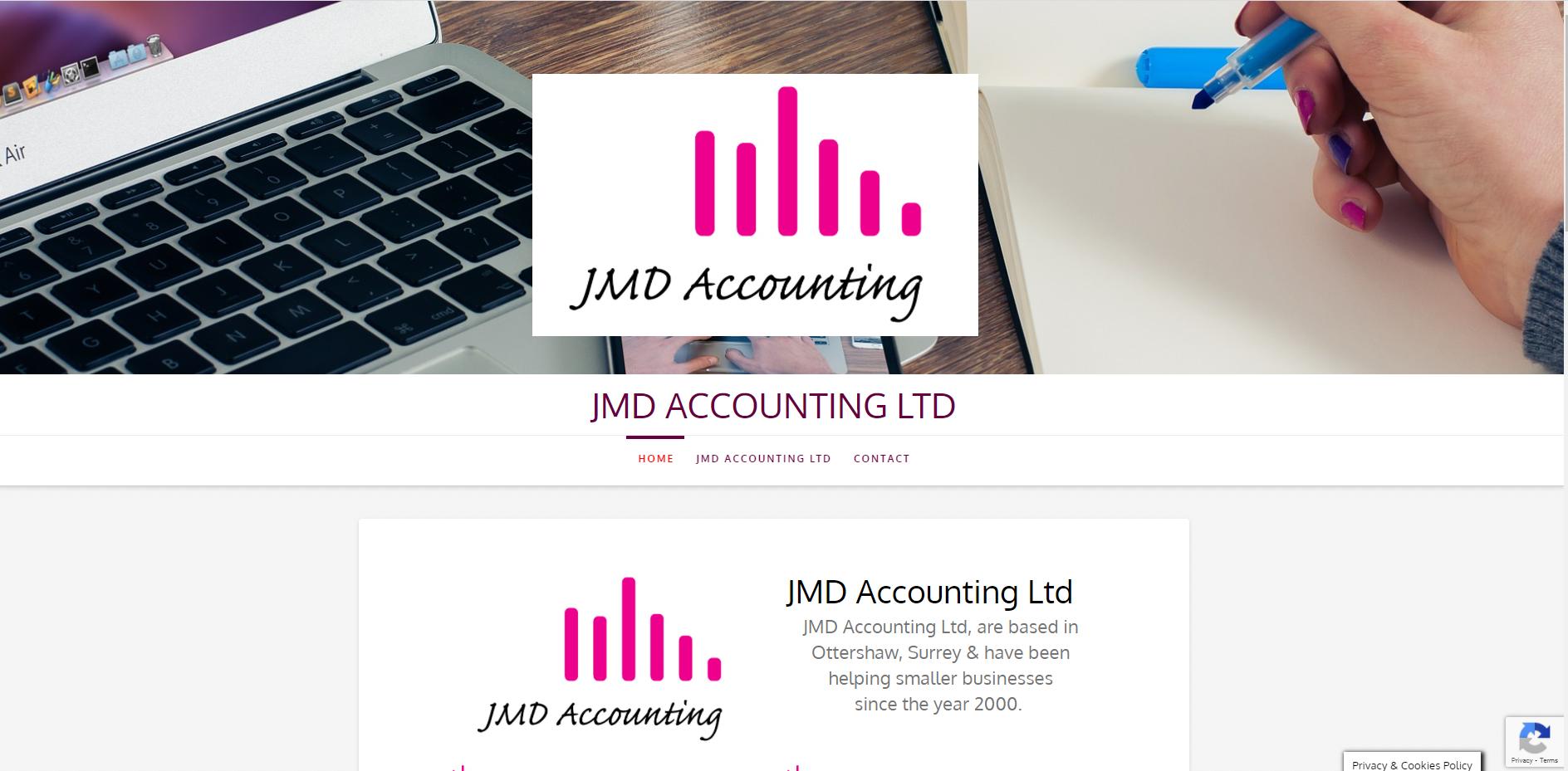 JMD Accounting website By T900 Website Design in Surrey